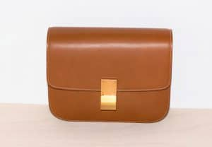 Celine Tan Medium Classic Box Shoulder Bag