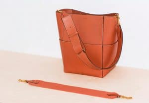Celine Terracotta Natural Calfskin Sangle Shoulder Bag