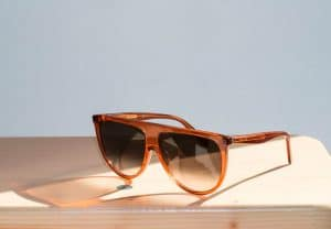 Celine Transparent Rust Thin Shadow Sunglasses