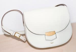 Celine White Compact Trotteur Shoulder Bag