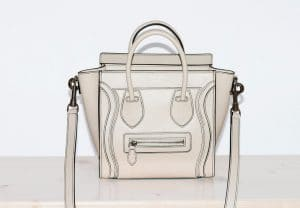 Celine White Nano Debossed Luggage Bag
