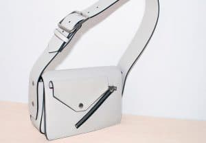 Celine White/Magenta Medium Case Biker Shoulder Bag