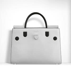 Dior Glossy White/Black Crinkled Lambskin Diorever Bag