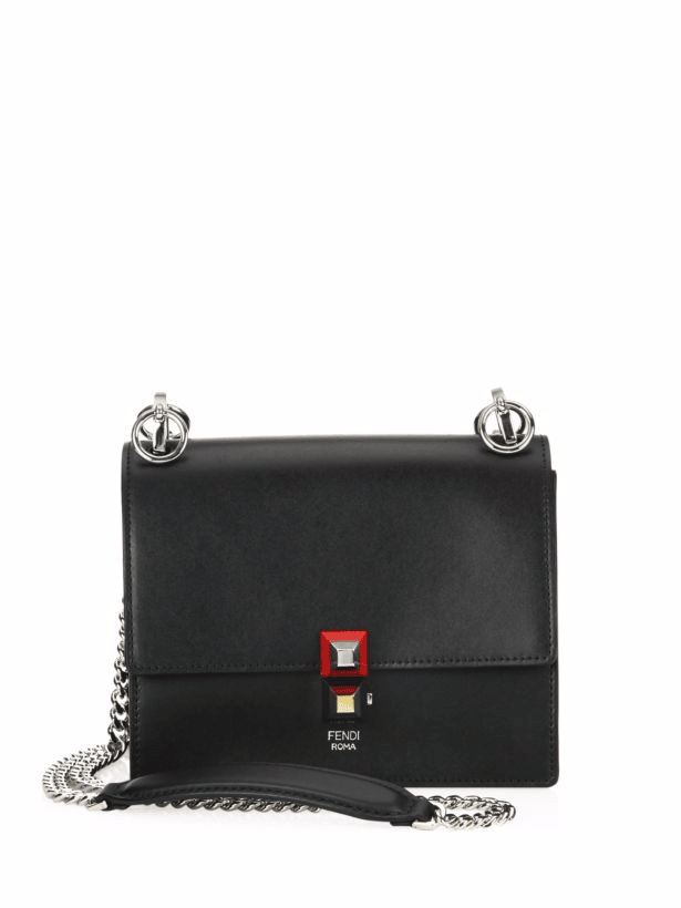 90c27e31e0 Fendi Small Kan I Mini Bag 8m0381 Black. Fendi Kan I Small Black and green  leather Mini bag 8M03813OAF0X93