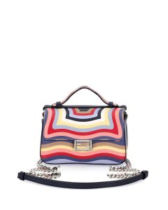 Fendi Multicolor Hypnotic Micro Double Baguette Bag
