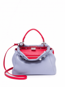 Fendi Powder Blue Studded Mini Peekaboo Bag
