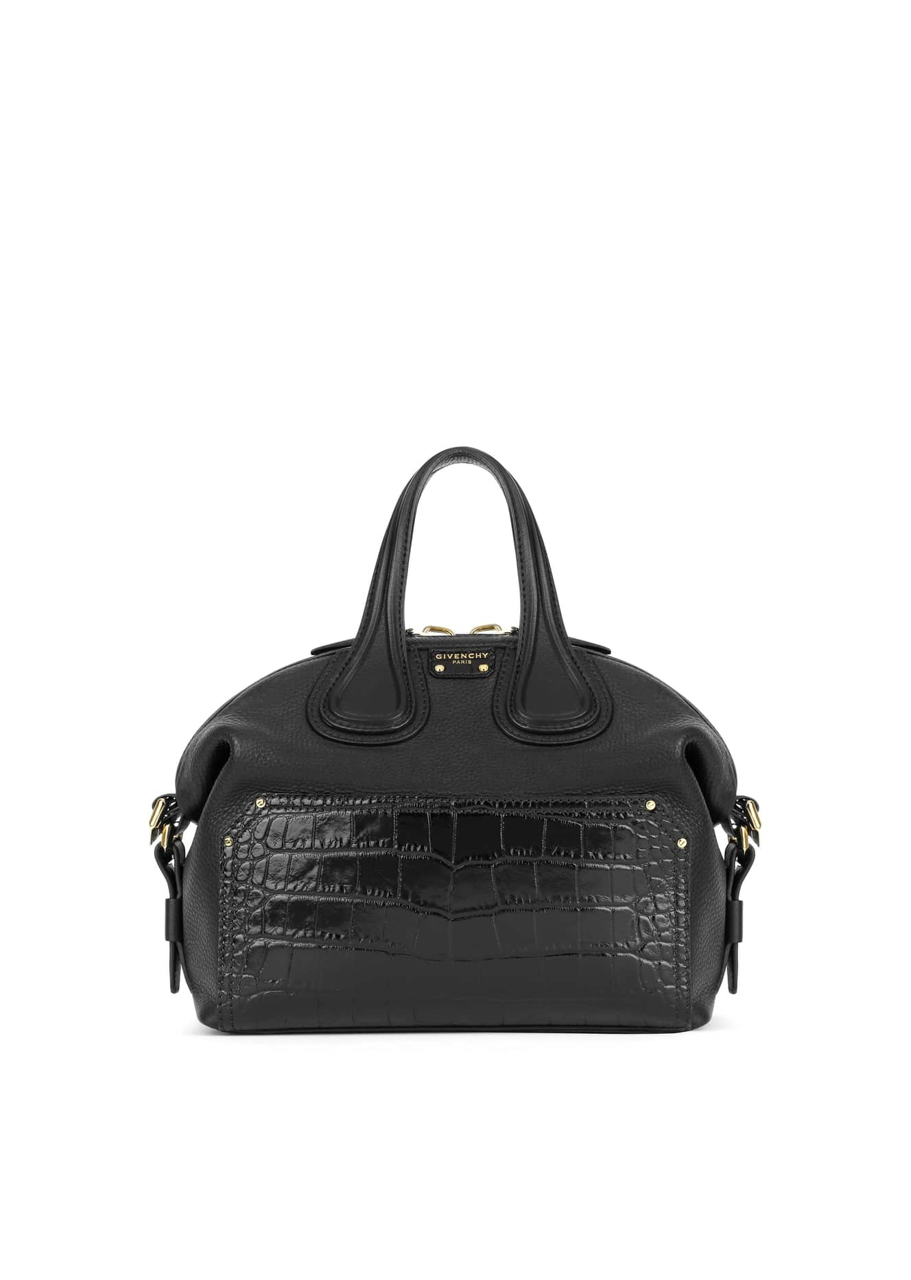 48d681f37f24 ... Givenchy Black Embossed Crocodile Patch Nightingale Small Bag purchase  cheap dea59 eacd2 ...