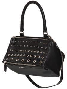 Givenchy Black Eyelets Small Pandora Bag