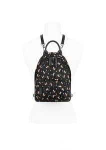 Givenchy Black/Pink Hibiscus Print Nano Backpack Bag