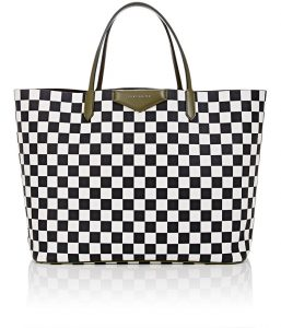 Givenchy Black/White Checkered Antigona Tote Bag