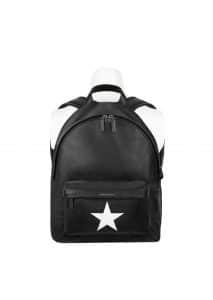 Givenchy Black/White Star Print Small Backpack Bag