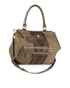 Givenchy Khaki Dollar-Print Pandora Medium Bag