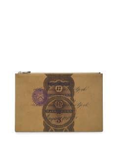 Givenchy Khaki Dollar Print Pouch Bag