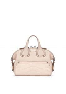Givenchy Nude Pink Embossed Crocodile Patch Nightingale Micro Bag