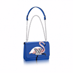 Louis Vuitton Blue Flamingo Sequin Embroidered Twist MM Bag