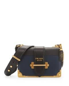 Prada Baltico Leather Cahier Shoulder Bag