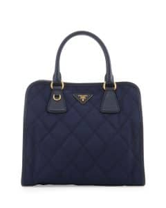 Prada Baltico Quilted Tessuto Top-Handle Bag
