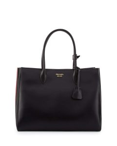 Prada Black/Red Bibliotheque XL Bag