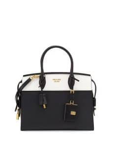 Prada Black/White Medium Esplanade Bag