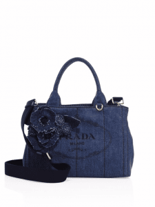 Prada Denim Blue Tote Bag
