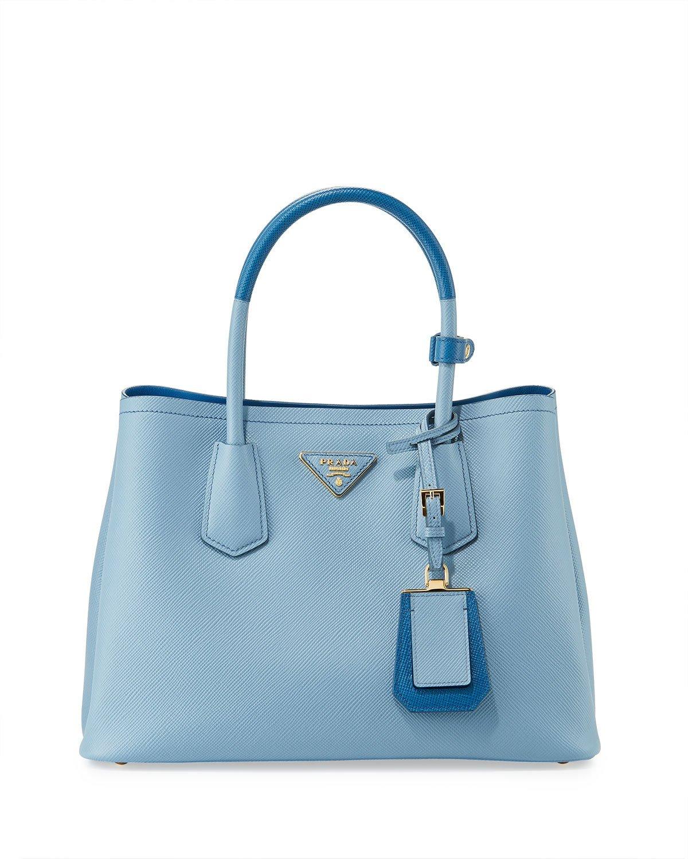 ... australia prada light blue dark blue mini double tote bag 60576 08bd3 779d066dd8