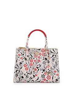 Prada Multicolor Debossed Floral Medium Galleria Bag