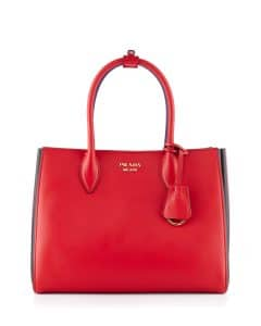 Prada Red/Black Bibliotheque Medium Bag