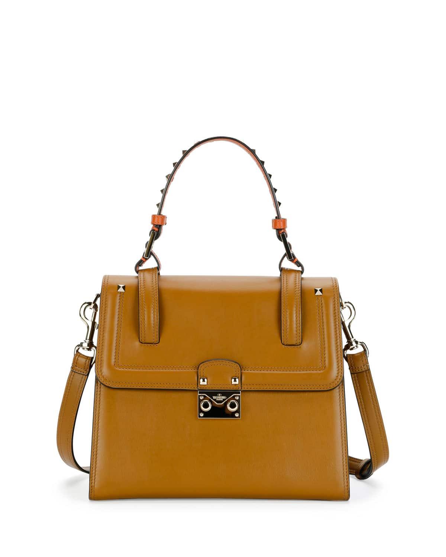 Valentino Top Handle Flap Bag Leather Large LUMqGK3