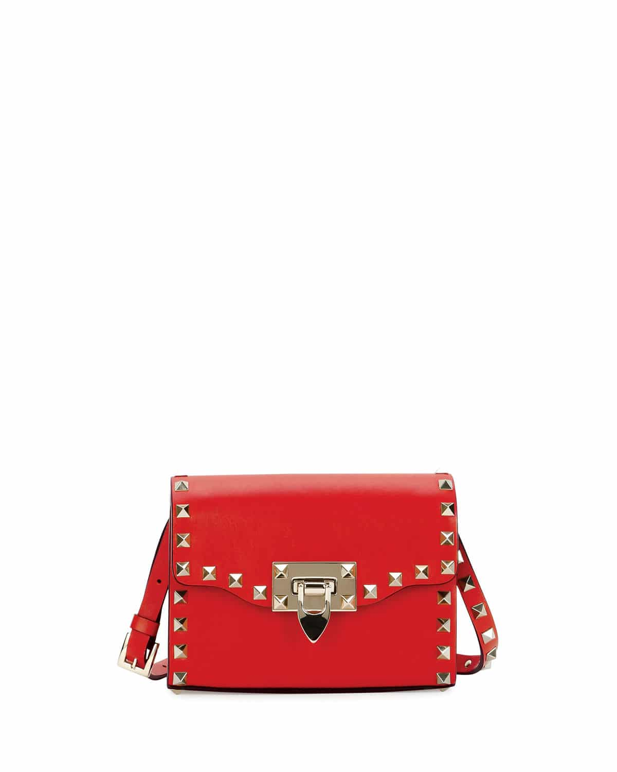 c67e0eb8bb48f Valentino Red Rockstud Mini Flap Shoulder Bag