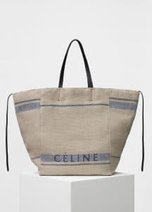Celine Beige Canvas Large Cabas Phantom Bag