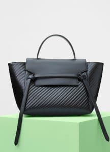Celine Black Quilted Calfskin Mini Belt Bag
