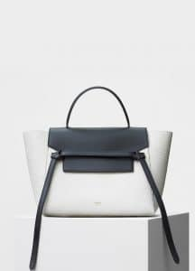 Celine Black/White Bullhide Calfskin Micro Belt Bag