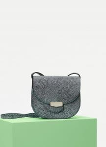 Celine Black/White Goatskin Small Trotteur Shoulder Bag