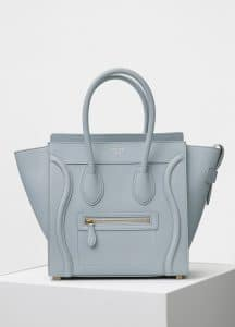 Celine Cloud Baby Grained Calfskin Micro Luggage Bag