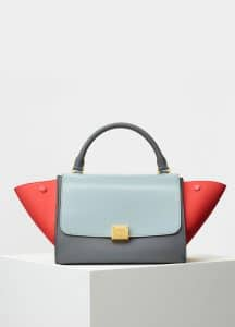 Celine Cloud Baby Grained Calfskin Small Trapeze Bag