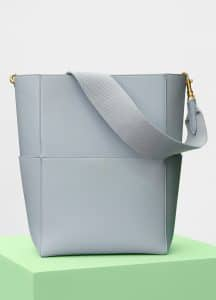 Celine Cloud Shiny Smooth Calfskin Sangle Shoulder Bag