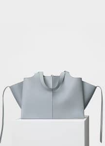Celine Cloud Supple Natural Calfskin Medium Tri-Fold Shoulder Bag