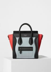 Celine Cloud Watersnake Nano Luggage Bag