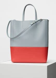 Celine Cloud/Poppy Bi-Grained Calfskin Small Vertical Cabas Bag