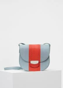 Celine Cloud/Poppy Watersnake Small Trotteur Shoulder Bag