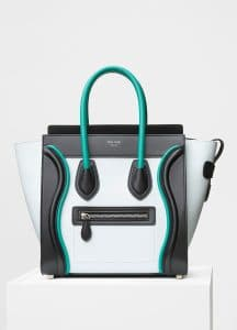 Celine Frost Smooth Calfskin with Piping Micro Luggage Bag