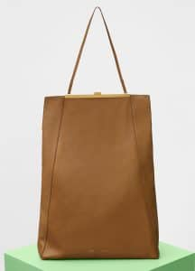 Celine Gold Sand Smooth Calfskin Cabas Clasp Bag