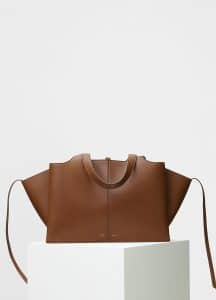 Celine Havana Supple Natural Calfskin Medium Tri-Fold Shoulder Bag