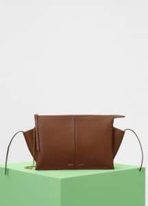 Celine Havana Supple Natural Calfskin Tri-Fold Clutch on Chain Bag