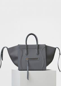Celine Kohl Baby Grained Calfskin Medium Luggage Phantom Bag