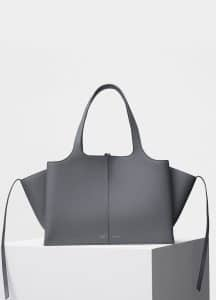 Celine Kohl Baby Grained Calfskin Medium Tri-Fold Shoulder Bag
