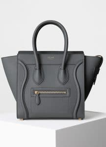 Celine Kohl Baby Grained Calfskin Micro Luggage Bag