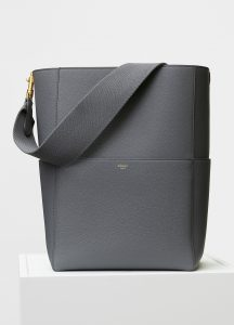 Celine Kohl Grained Calfskin Sangle Shoulder Bag