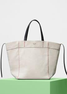 Celine Natural Washed Canvas Medium Cabas Phantom Bag