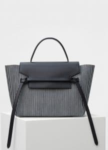 Celine Navy/White Striped Textile Mini Belt Bag